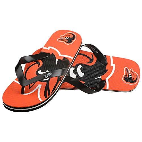 (Baltimore Orioles Double Logo Flip Flop - Youth 8-16)