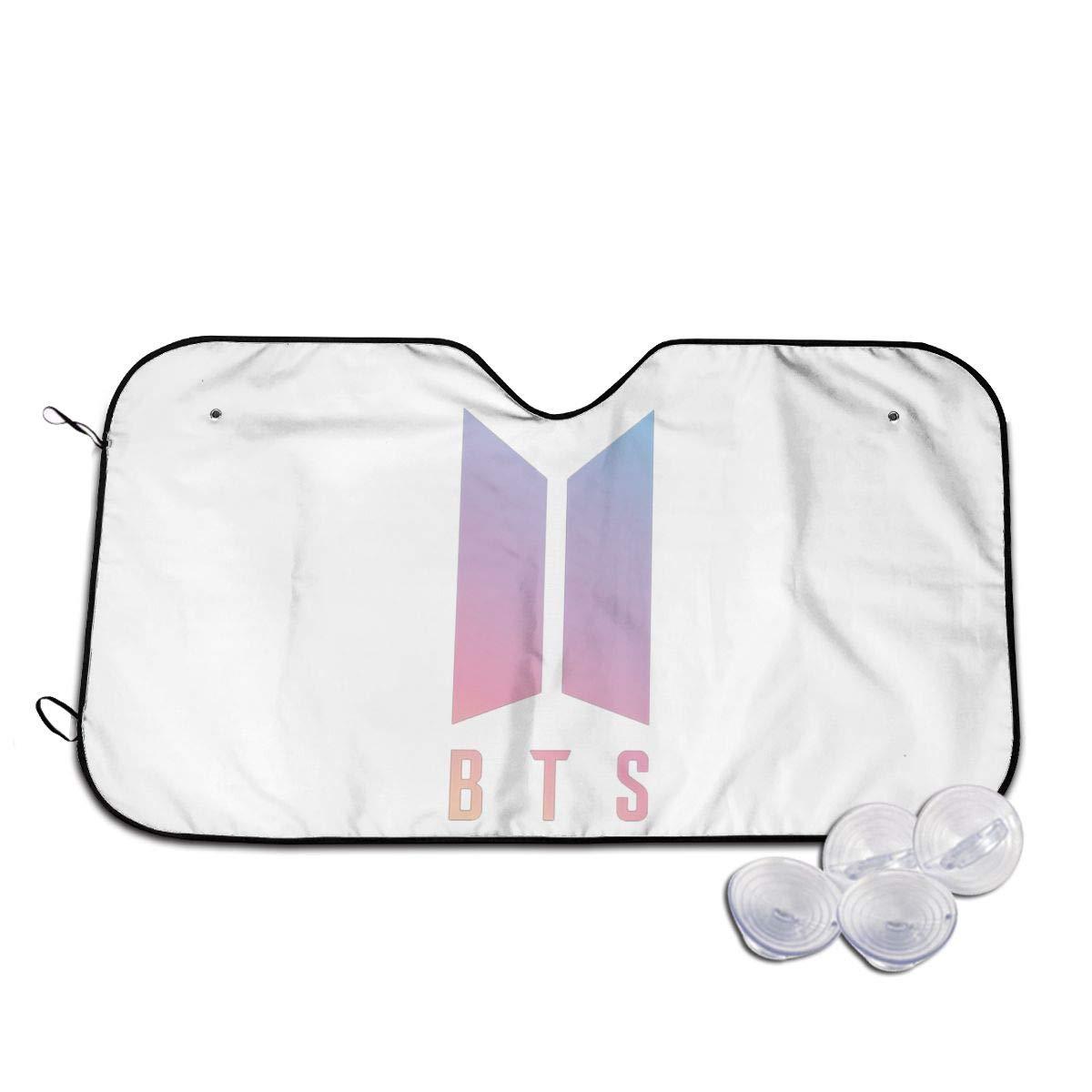 Dongninglove BTS Logo Windshield Sun Shade Universal Car Sunshade Keep Cool UV Sun Reflector