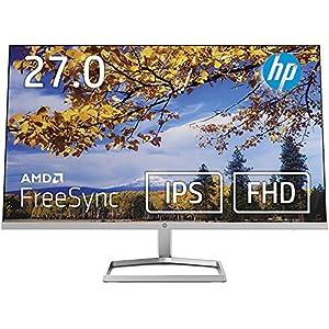 HP モニター 27インチ ディスプレイ フルHD 非光沢IPSパネル 高視野角 超薄型 省スペース スリムベゼル HP M27fw 背面ホワイト 3年保証付き(型番:2H1B1AA-AAAA)