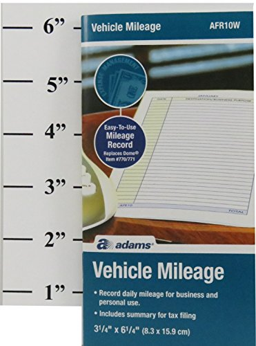 Adams Convenient Vehicle Mileage Journal AFR10W