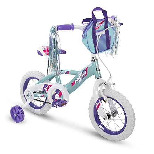 Huffy Glimmer Girls Bike 12,14,16,18in w/ Streamers, Training Wheels and Handlebar Basket