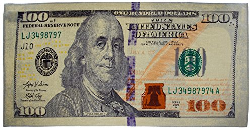 (New 100 Dollar Bill Printed Beach Towel)