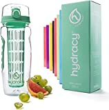Best Infuser Water Bottles - Hydracy Fruit Infuser Water Bottle - 32 Oz Review