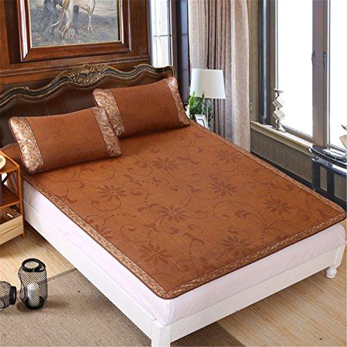 Rattan Bedding Set - Gino 3pcs Rattan Mattress Topper Pad Cooling Summer Sleeping Mat and Pillow Shams Sets