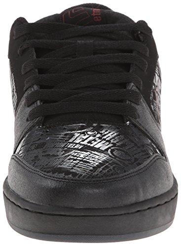 Etnies - Zapatillas de cuero sintético para hombre Negro Black/Red/Grey 41.5