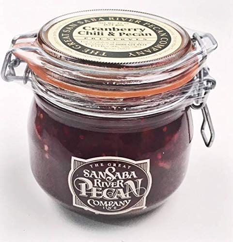 The Great San Saba River Pecan Company Cranberry Chili & Pecan Preserves 22 Ounce