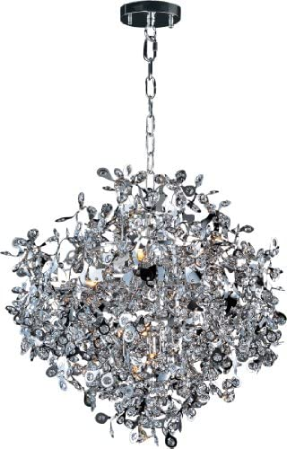 Maxim Lighting 24205BCPC Comet – Ten Light Chandelier, Comet 10-Light Pendant