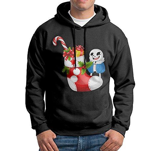 [Dora Undertale And Christmas Candy Men's Sports Sweatshirt Size L Black] (Soccer Player Halloween Costume Boys)