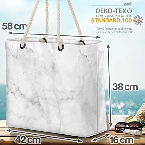 VOID marmor granit strandväska Shopper 58 x 38 x 16 cm 23 L XXL shoppingväska väska resväska Beach Bag