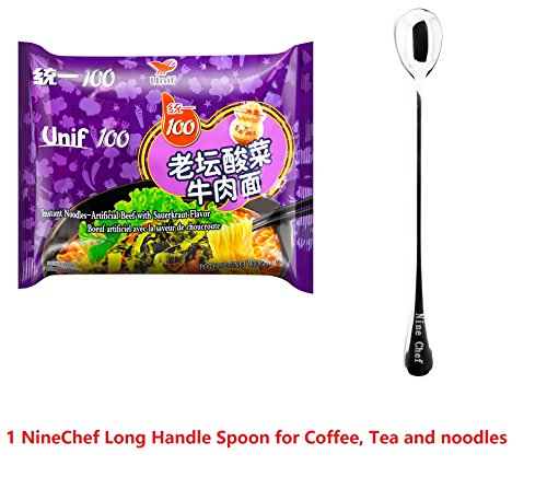UNIF-100 INSTANT NOODLES - artificial beef with sauerkrant flavor 24*3.69oz/105g (24bags One Box)