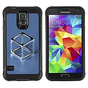 LASTONE PHONE CASE / Suave Silicona Caso Carcasa de Caucho Funda para Samsung Galaxy S5 SM-G900 / Chrome Cube