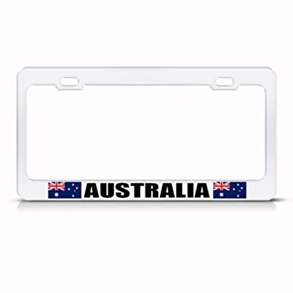Amazon.com: Australia Australian Flag White Country Metal License ...