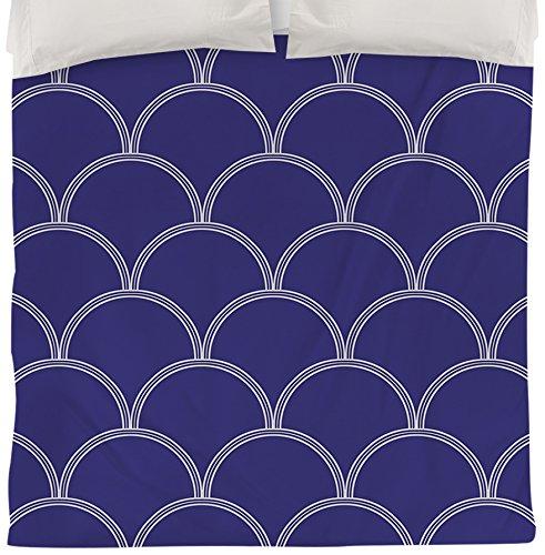 Thumbprintz Duvet Cover, Twin, Navy and Gray Art Deco Circles