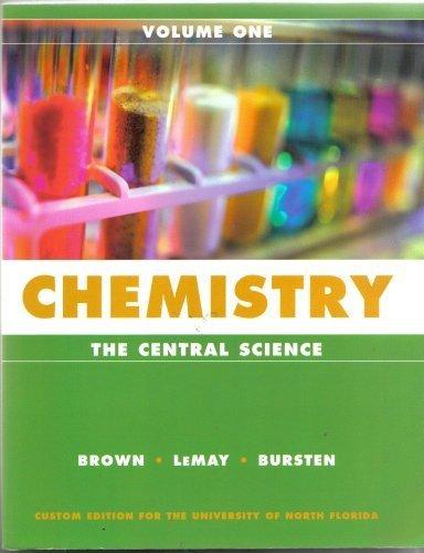 Chemistry the Central Science Volume 1 (VOLUME 1)