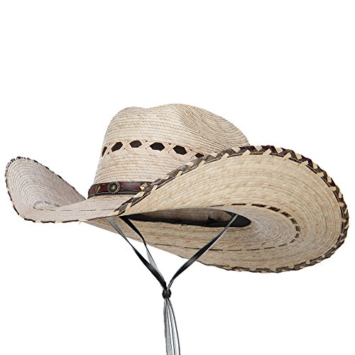 Wide Wing - Solid Wing Mexican Style Wide Brim Safari Hat - Natural OSFM