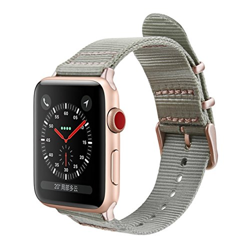 Apple Watch Band, iWatch Band 38mm, GEMEK Fashion Woven Nylon Fabric Replacement iWatch Strap Bands for Womens Girls, apple watch series 3 series 2 series 1 (38mm (Distinctive Series)