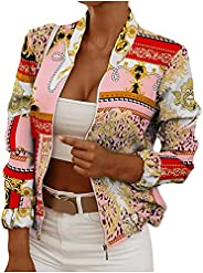 Trendy Print Jackets for Women Full Zip Up Leopard Crop Long Sleeve Y2K Jackets Fall Slim Party Club Open Fron
