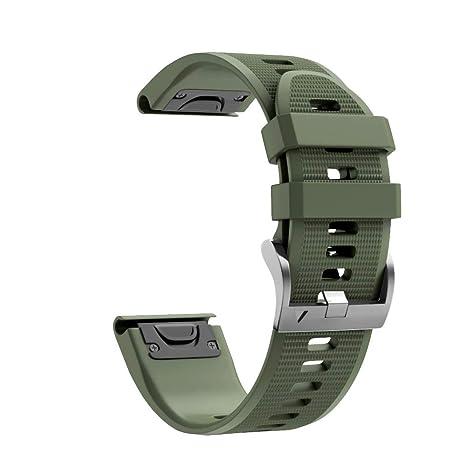 Transer_Bracelet Garmin Instinct Watch Bracelet, de Montre de Remplacement Rapide en Silicone Sport pour Garmin