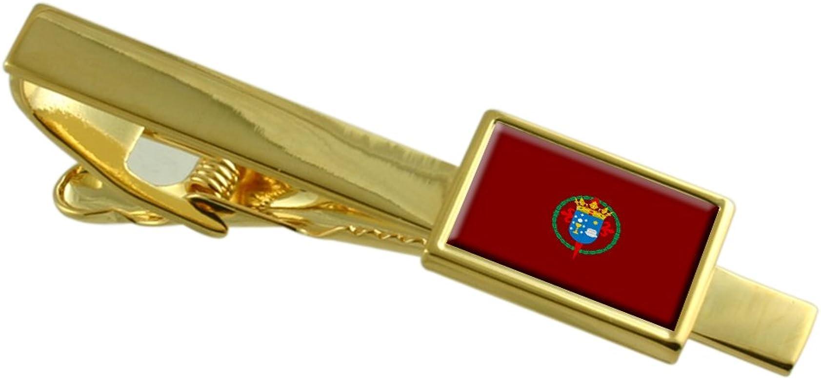 Select Gifts La Ciudad de Santiago de Compostela Bandera España Clip de Corbata de Oro: Amazon.es: Joyería
