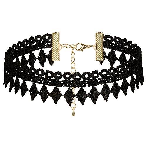 Dream Catcher Black Vintage Gothic Choker Necklace with pendants for Women Grils(1 - 8 pcs) (H: (Cheap 80s Dresses)