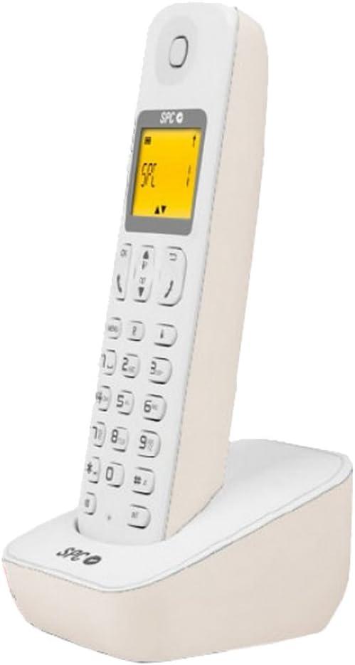 SPC Air - Teléfono (Teléfono DECT, 50 entradas, Identificador de Llamadas, Blanco): Amazon.es: Electrónica