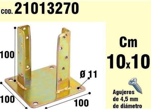 WOLFPACK LINEA PROFESIONAL 21013270 Soporte para Madera Anclaje Bicromatado 100 mm: Amazon.es: Jardín