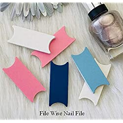 Pastel 6 File Wise Nail Files Original Design Beauty Files Manicure Pedicure Wedding Shower Favor Bridesmaids Bride Teen Girls Mini Nailfile DIY Nail Care Bachelorette Party Travel