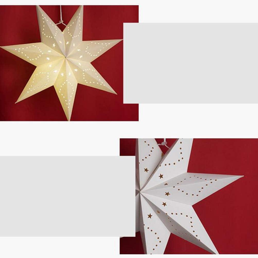 decoraci/ón de Fiesta de Vacaciones L/ámpara de d/ía con Estrellas Luminosas Boda VOSAREA Navidad luz LED decoraci/ón de Pared de Navidad de Papel Color Blanco Colgantes para LED cumplea/ños