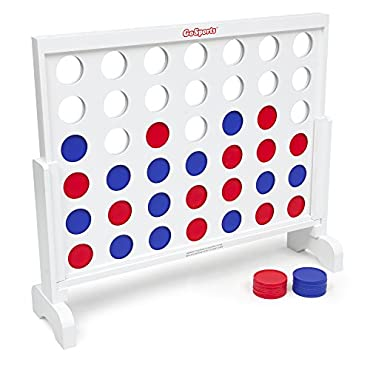 GoSports Giant 4 in a Row Game with Carrying Case 3 foot Width Made from Wood