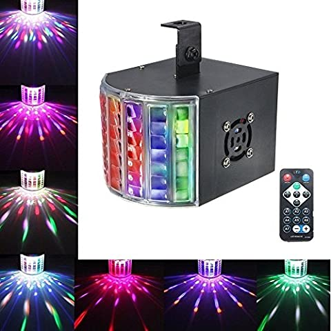 DJ Lights, SOLMORE18W DMX512 RGB LED Party Lights Sound Actived Disco Lights for Stage Lighting Wedding Birthday Karaoke Xmas Show Color Changing AC110-240V (with - Stage Lighting Package