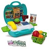 cheap cash register - Kids Grocery Cash Register Case Set - 23 Pieces - Scanner, Fruits , Food ... - Educational Learning Toy