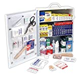 Rapid Care First Aid 80098 3 Shelf First Aid Kit Cabinet with Bonus Items and Medications, Over 1100 Pieces, Meets and Exceeded OSHA and ANSI Z308.1 2015 Class A+ Requirements