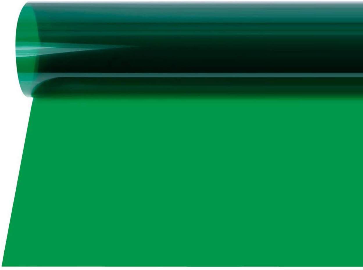 Selens 40x50cm Gel Filtro Iluminación Transparente Color Corrección Hoja de luz para Foco de 800W Cabeza Roja Luz Estroboscópica Fotografía Estudio Fotográfico (Verde)