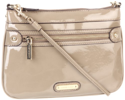 Anne Klein Rich And Famous Cross Body,Taupe,One Size, Bags Central