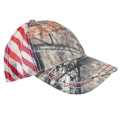 CTM Camo Baseball Cap with Mesh American Flag Back, Multi