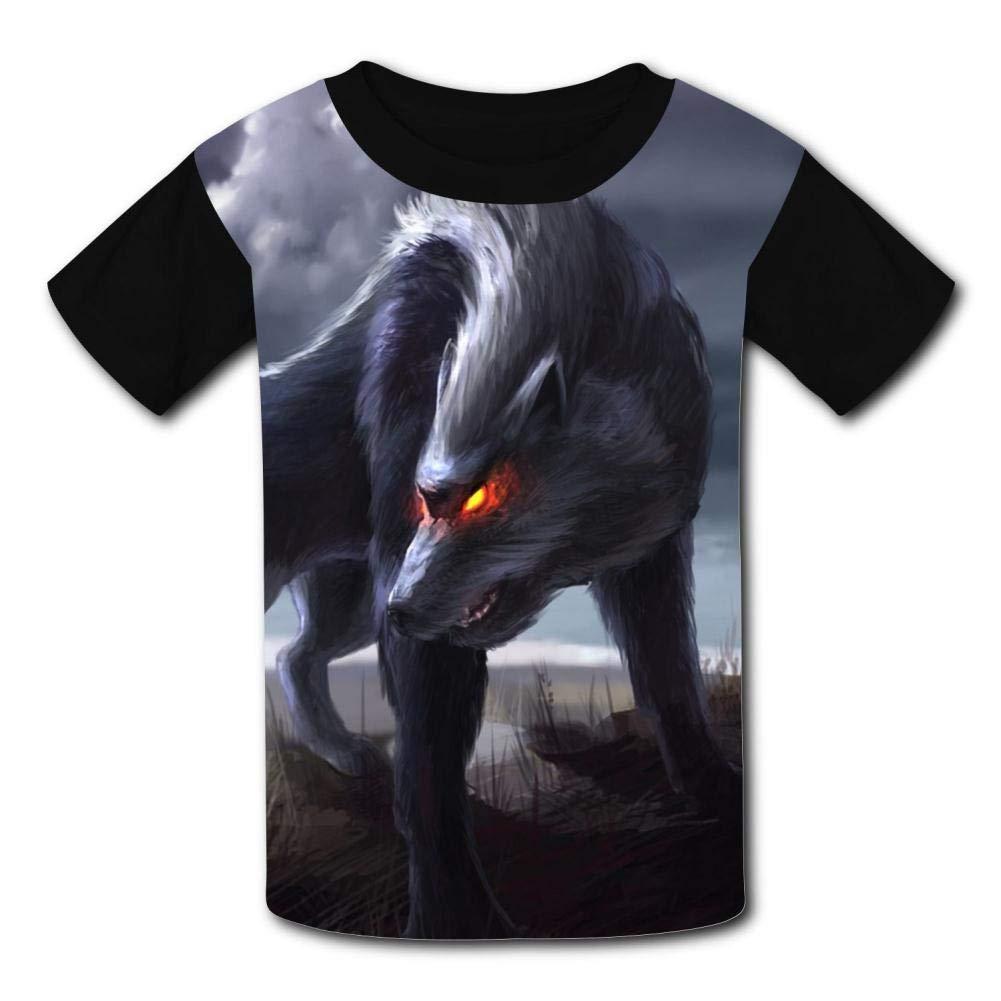 Kids Terrible Wolf O-Neck T Shirts for Fashion Children Boys Girls Tee Shirt