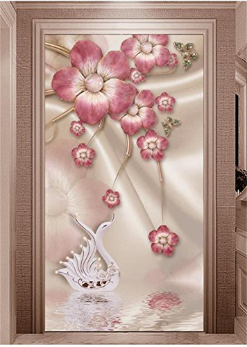 Yosot 3D Wallpaper Photo Wallpaper Custom Mural Living Room Porch Jewelry Plum Blossom Soft Outfit Painting Wall Wallpaper for Wall 3D-140Cmx100Cm ()