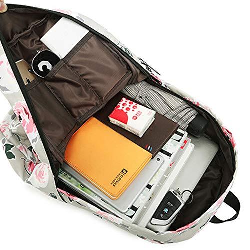 Portable Grande Pour Gray1 Pivoine 15 De Fleurs Capacité Cartable Ordinateur À Résistant Imperméable Pouces Motif Lhj Sac L'usure Dos CwBXqRR6