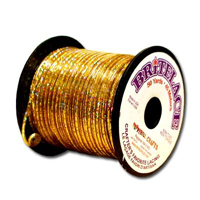 Plastic Craft Lace (Springfield Leather Company's Rexlace Bright Gold Plastic Lace)