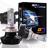 headlight for infinity g35 - BPS Lighting G7 LED Headlight Bulbs Conversion Kit - 9012 HIR2 50W Philips Lumileds 8000 Lumen 6000K 6500K - Adjustable - Cool White - Super Bright - Low and High Beam - Plug and Play - 2 Yr Warranty