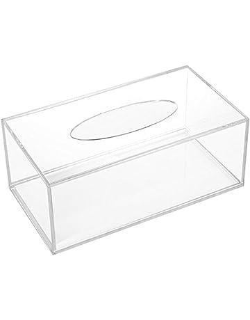 OUNONA - Estuche de pañuelos de acrílico Rectangular Transparente para Almacenamiento de Papel, para Oficina