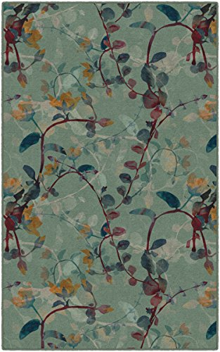Brumlow Mills EW10001-40x60 Catalina in Green Floral Area Rug, 3'4