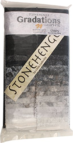 Stonehenge Gradations Graphite Stone Strips 40 2.5-inch Strips Jelly Roll Northcott (Stone Strip)