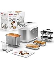 Imetec Zero-Glu Pro Broodmachine, pantoffels en broodjes, zonder gluten, voor pizza, pasta, snoep, jam, 20 programma's, 2 kneedbladen, gecontroleerde zwevende temperatuur, receptenboek