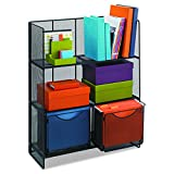 Safco Products 6240BL Onyx Mesh Fold-Up Shelving, Black
