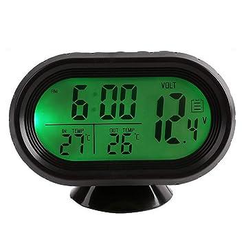 JIADIAN - Reloj Digital para Coche con Control de Voltaje y termómetro, Modo de repetición