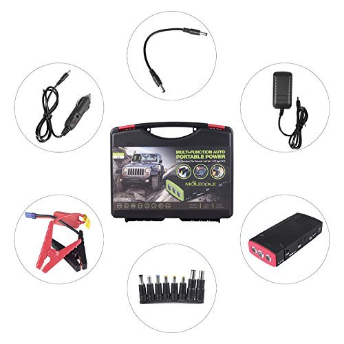 600A Peak Current 16800mAh Car Jump Starter Multi-Function Auto Portable Charger(up to 6.0L Gas,5.0L Diesel Engine) by MOLECOLE (Image #7)