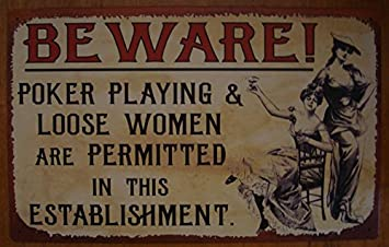 Amazoncom Beware Poker Loose Women Permitted Here Old West