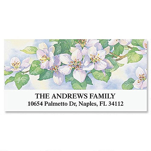 Gardens Year-Round Self-Adhesive, Flat-Sheet Deluxe Address Labels (12 Designs)