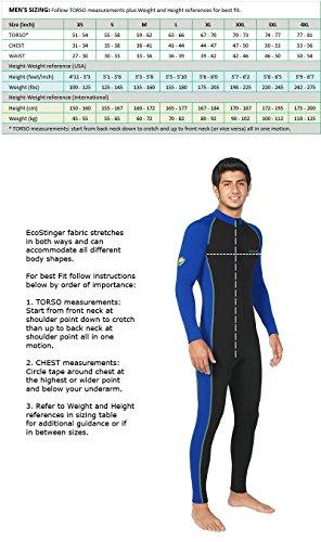 bf47172af3c Men Sun Protective Stinger Swimsuit Dive Skin Chlorine Resistant ...
